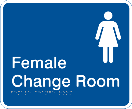 Sapphire Blue / White Colours - Female Change Room