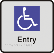 Anodised Aluminium Sign - Accessible Entry