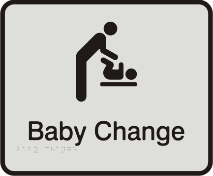 Anodised Aluminium Sign - Baby Change