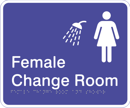 Acrylic Sign - Female Change Room & Shower