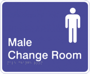 Acrylic Sign - Male Change Room
