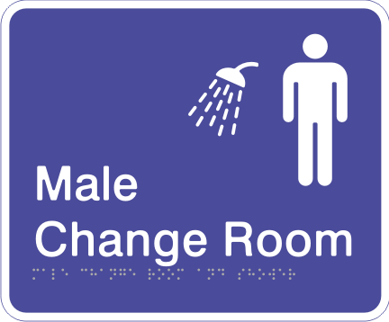 Acrylic Sign - Male Change Room & Shower