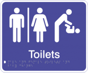 Acrylic Sign - Seperate Male & Female Toilets & Baby Change