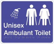 Acrylic Sign - Unisex Ambulant Toilet & Shower