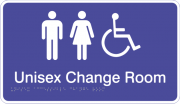Acrylic Sign - Unisex Accessible Change Room
