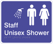 Acrylic Sign - Staff Unisex Shower