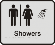 Anodised Aluminium Sign - Seperate Male & Female Showers