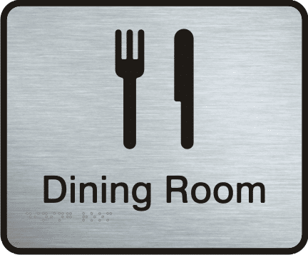 Stainless Steel Sign - Dining Room