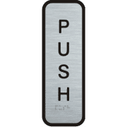 Stainless Steel Sign - Push (vertical)
