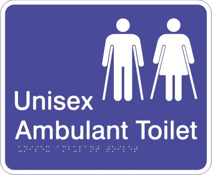 Acrylic Sign - Unisex Ambulant Toilet