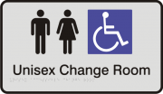 Anodised Aluminium Sign - Unisex Accessible Change Room