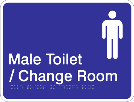 Acrylic Sign - Male Toilet & Change Room